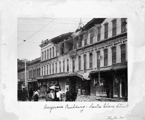 Click the image to view Selected digital versions of items from the Santa Clara Valley Local History Collection, 1906 Earthquake.