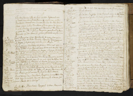 Click the image to view selected digitized versions of items from the Mission Santa Clara Manuscripts Collection, SERIES I: Sacramental Records.