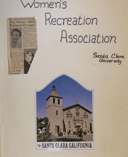 Click the image to view selected digital versions of items from the Women's Recreational Association Scrapbooks.